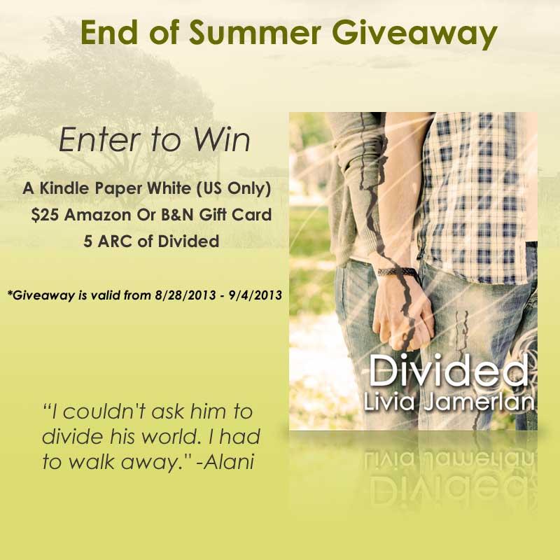 Divided By Livia Jamerlan Giveaway Teaser